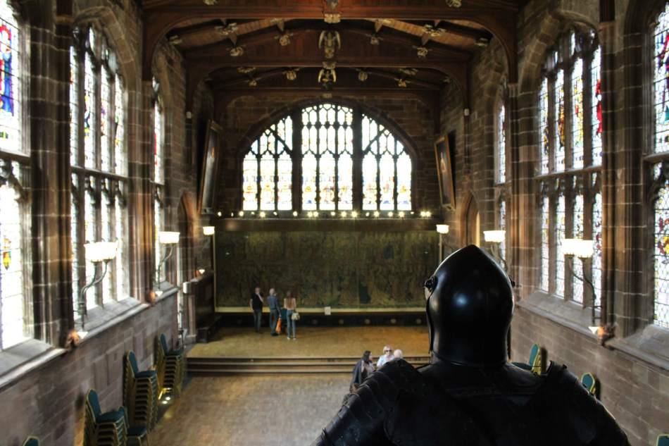 St Marys Guildhall (Main Hall Interior view from the balcony) 6 2017 (Javerya Iqbal) -®HistoricEngland