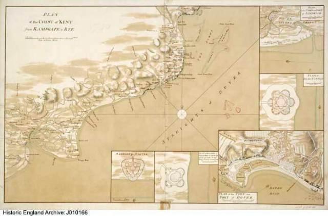 Kent coastal defences in 1740 J010166