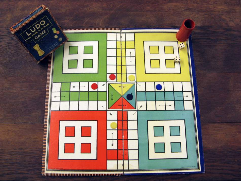 An original Ludo board game