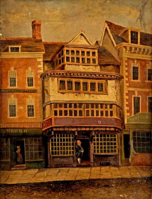 An 1828 painting of Gloucester Old Bank