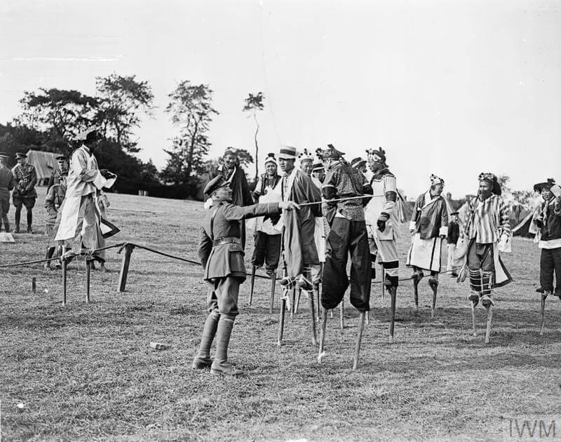 Chinese stilt walkers