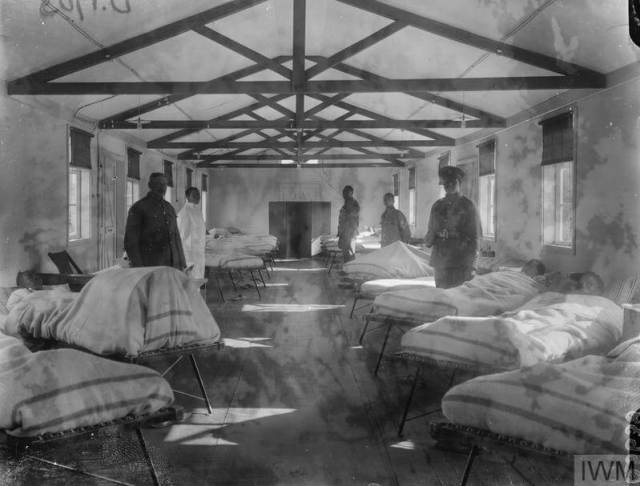 A ward at the South African Native Labour Corps General Hospital