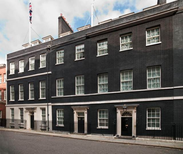 Exterior view of 10 Downing Street c Historic England DP133026