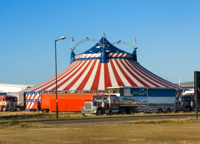 Big top tent, Hartlepool, Durham. 2007 c Historic England DP044220
