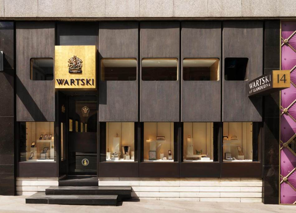 Wartski's jewellery shop from the south-east