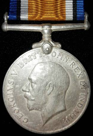 British War medal given to officers and men of British and Imperial forces for service in the First World War. Mahomed Gama was awarded this medal. His name is engraved around the edge. Image courtesy of Asif Shakoor, grandson.