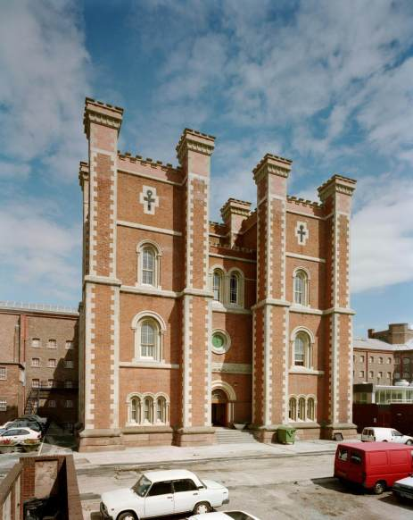 Exterior view of HMP Liverpool, Merseyside chapel and administration block