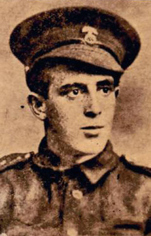 A portrait of Private Wilfred Wake