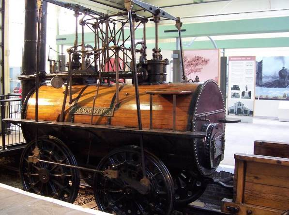 Locomotion No 1 at the Darlington Railway Centre and Museum