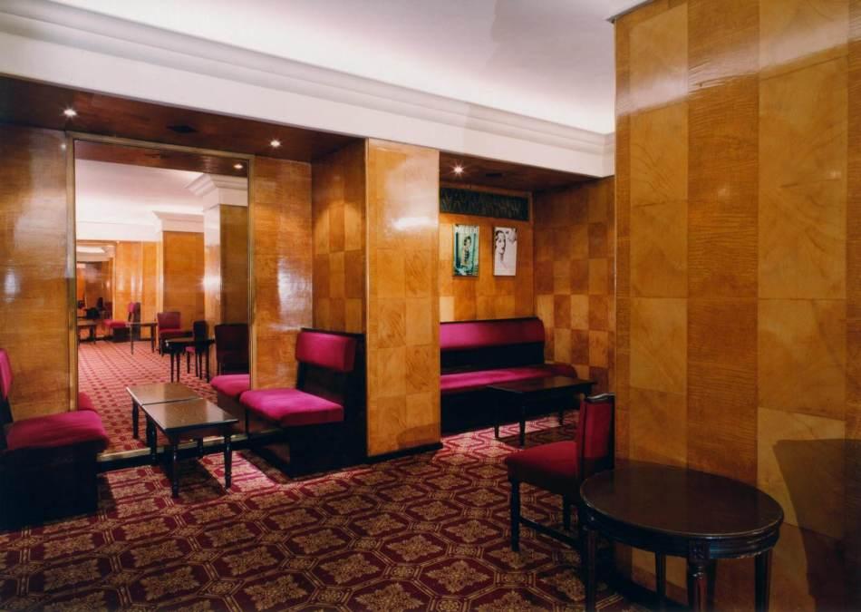 Art Deco style stalls bar in Her Majesty's Theatre, Haymarket
