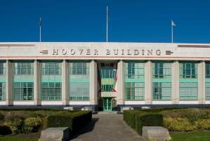 The façade of the Hoover Building in London