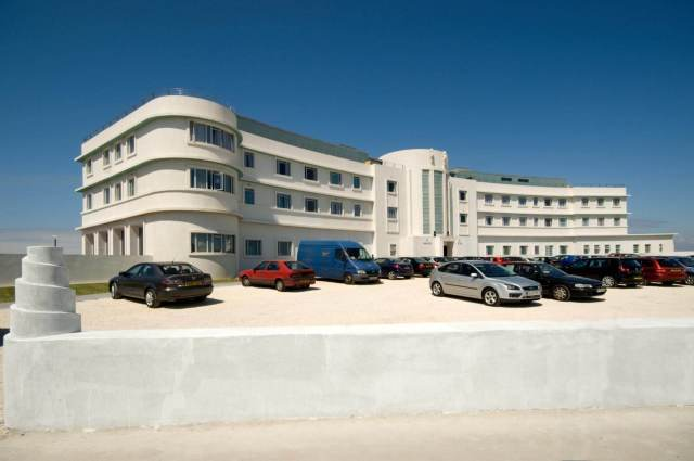Facade of The Midland Hotel in Morecambe