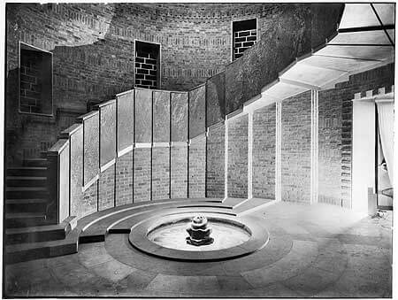 Art Deco Fountain Staircase in the Shakespeare Memorial Theatre, now the Royal Shakespeare Theatre in London
