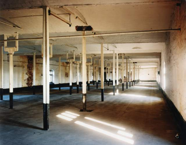 The third floor of the Main Mill, with it's orginial cast iron frame of 1797 c Historic England
