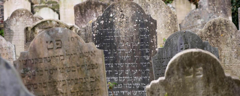 Gravestones in Jewish cemetry