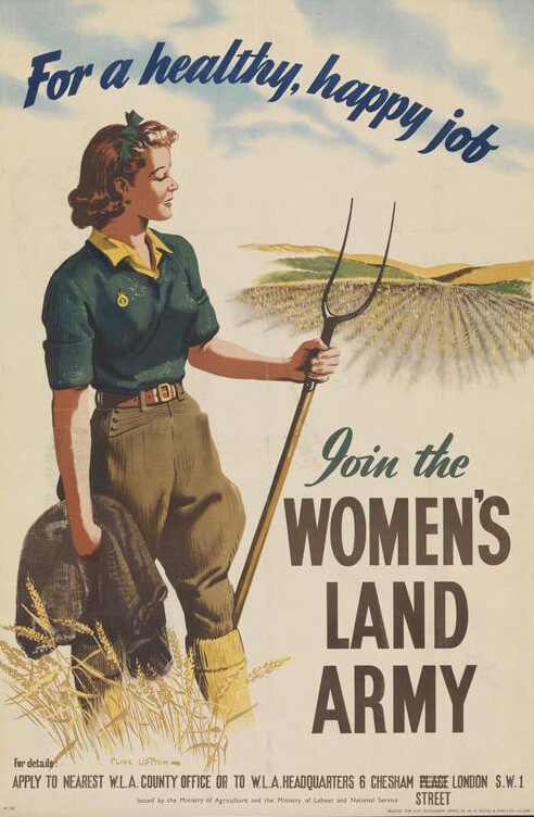 Recruiting poster for the Women's Land Army