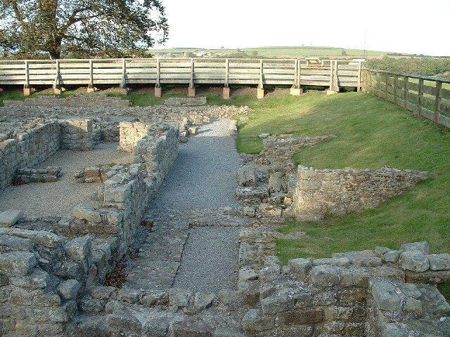 Binchester Roman Fort ruins