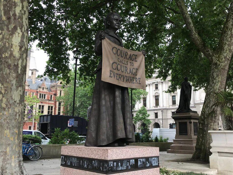 Millicent Fawcett statue in Parliament Square