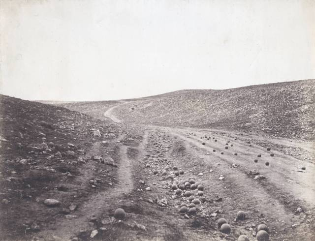 Roger Fenton's iconic photograph known as 'The Valley of the Shadow of Death.'
