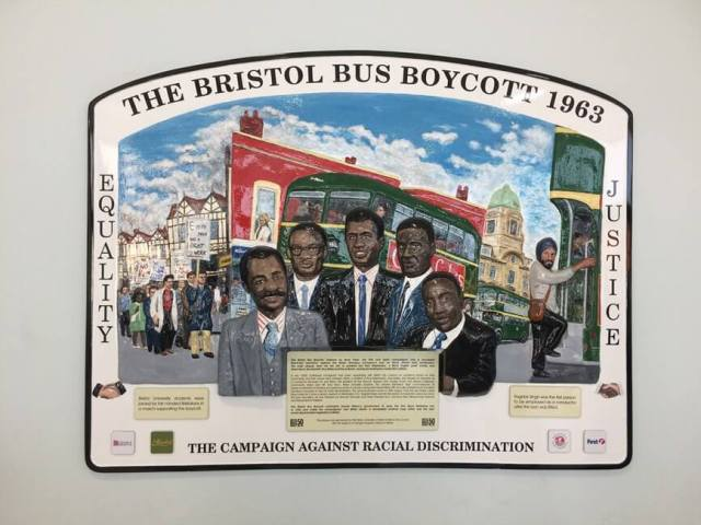 Bristol Bus boycott plaque