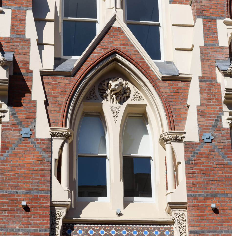 The Gothic-style façade of 33-35 Eastcheap