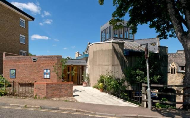 Exterior of Quaker Meeting House, Lawn Terrace, Blackheath, London © Historic England Archive DP180137