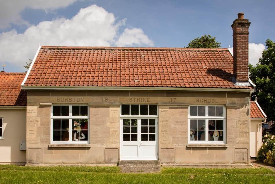First World War Burston Strike School, Diss Road, Burston, Norfolk © Historic England Archive DP217149