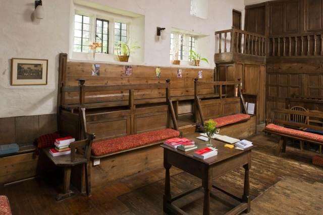 Interior of Brigflatts Quaker Meeting House, Sedburgh, Cumbria © Historic England Archive DP143728
