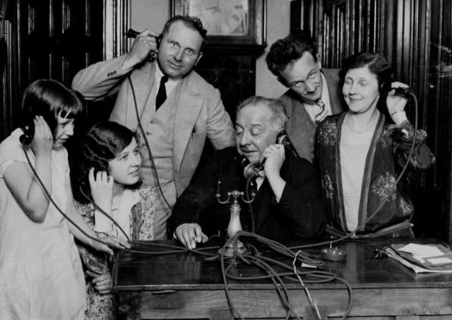 Amy Johnson's family hold phones