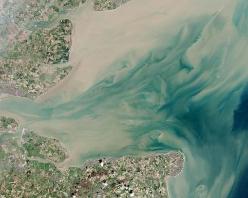 The Thames Estuary from space.