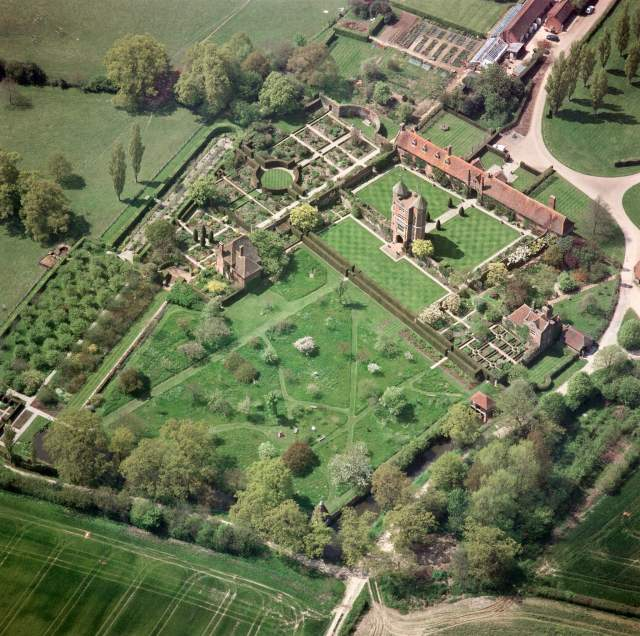 Aerial view of Sissinghurst Castle, Kent