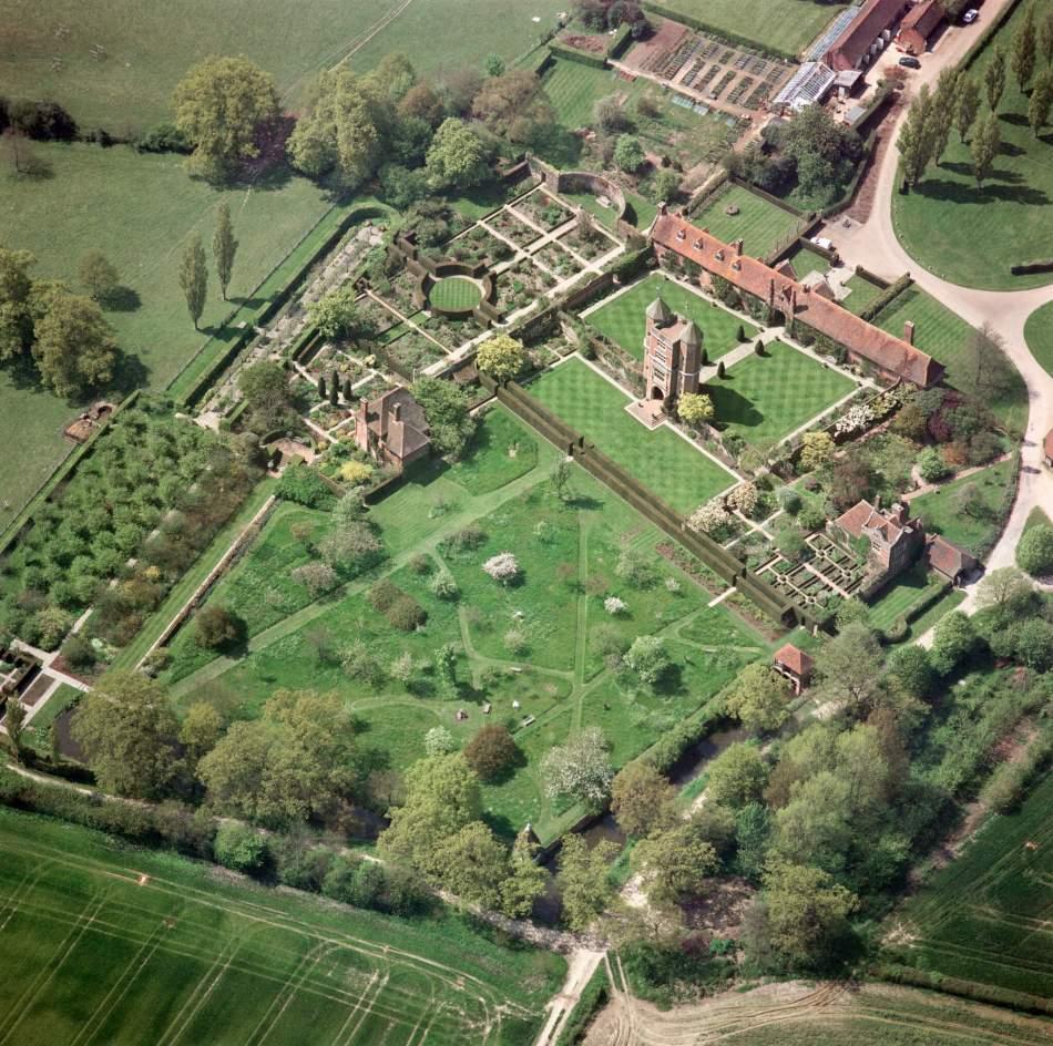 Aerial view of Sissinghurst Castle, Kent