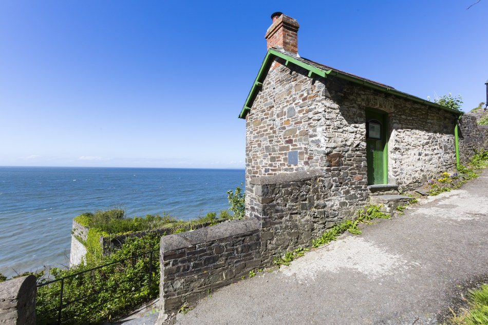 The Cabin on the beach slipway at Bucks Mills, North Devon. Copyright: National Trust Images/Chris Lacey