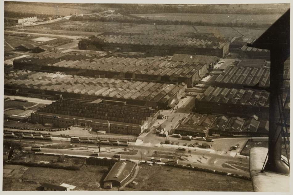 Castle Bromwich Aeroplane Factory from above