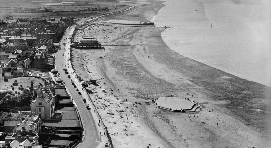 The Esplanade and the Beach, Burnham-on-Sea, Somerset