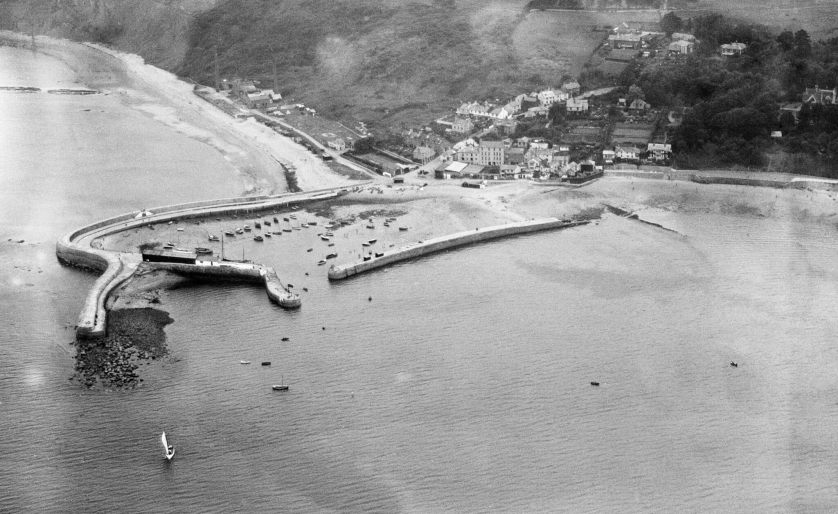 The Cobb from above at Lyme Regis