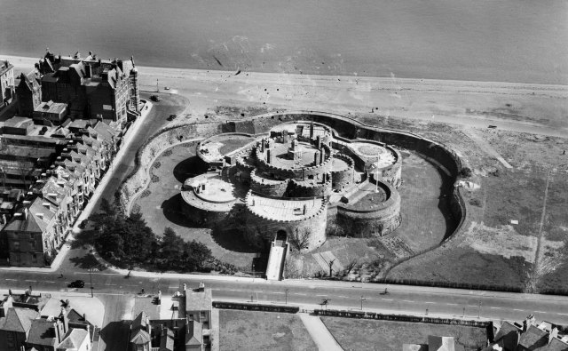Deal Castle in Kent from above