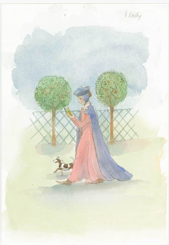 Artists impression of a Medieval noblewoman