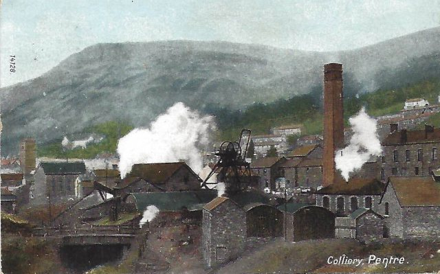 Archive postcard of Pentre Colliery and village