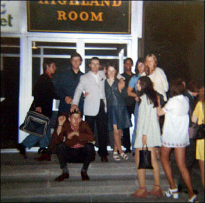 People outside the Blackpool Mecca/Highland Room in the early 1970s. If this is your photograph, please let us know so we can credit you.