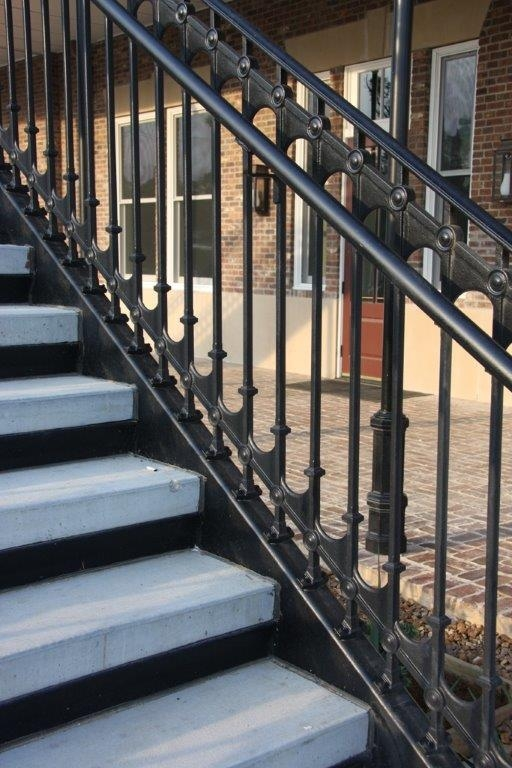 Elegant Traditional Cast Iron Stair And Balcony Railings | Iron Stair Railing Cost | Wrought Iron Balusters | Deck | Stair Parts | Banister | Stair Treads