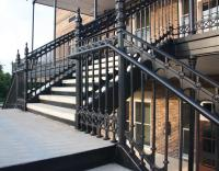 Elegant Traditional Cast Iron Stair and Balcony Railings