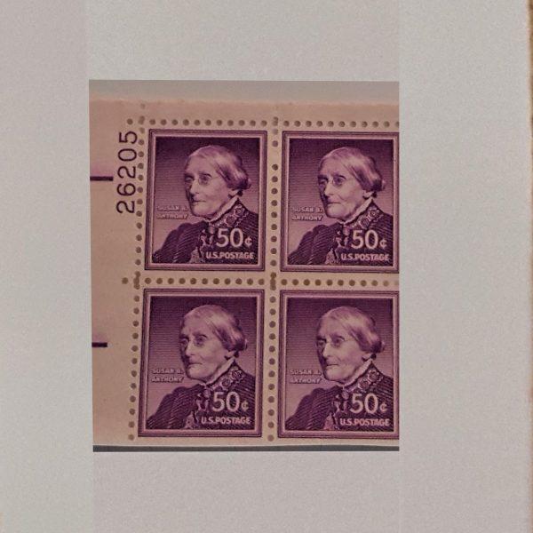 Susan B Anthony 50C MNH Plate Block Liberty Series u mint $4.24