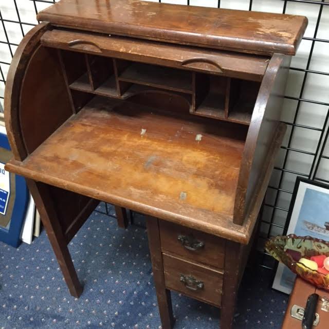 SOLD Vintage Rolltop Childs Desk  Heritage Collectibles