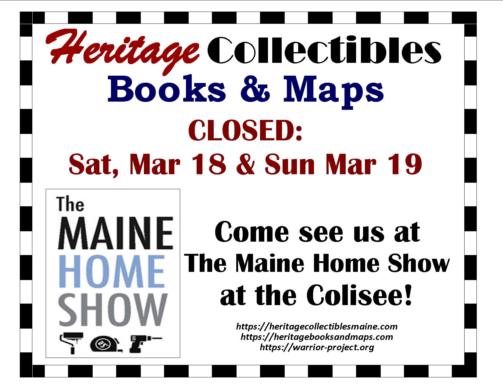 Visit Us at The Maine Home Show at the Colisee in Lewiston, March 18-19