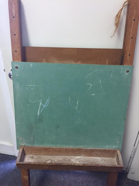 Vintage Child's Easel Style Double Chalkboard