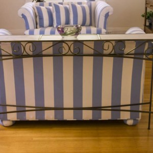 hand made iron console couch table