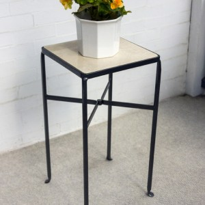 square iron table white tob