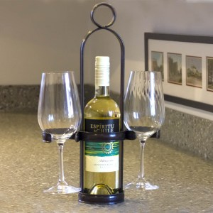 hand crafted wine bottle caddy