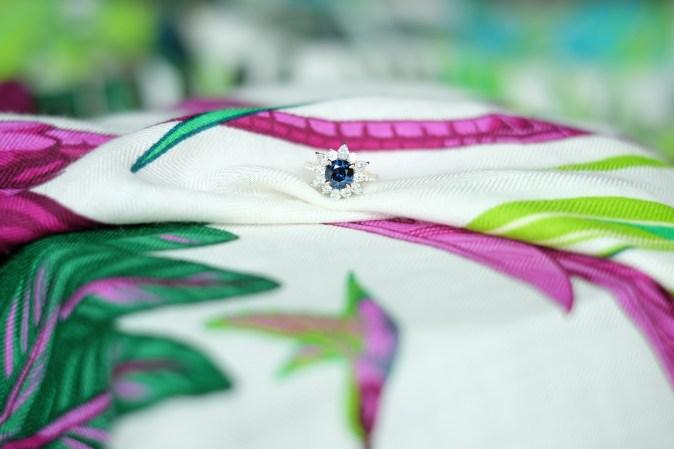 Colour Change Sapphire Engagement Ring Diamonds